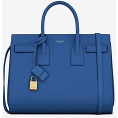 Saint Laurent Classic Small Sac De Jour Bag In Royal Blue Leather