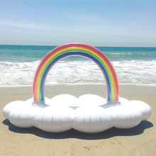 new luxe giant inflatable rainbow and cloud pool float mattress Cute Pool Floats, Giant Pool Floats, Summer Pool Party, Water Party, Summer Beach, Rainbow Pools, Rainbow Cloud, Cloud 9, Beach Inflatables