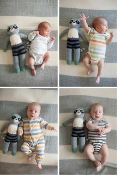 Track Your Baby's Growth With Sequential Monthly Photos | Apartment Therapy