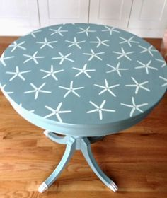 Starstruck -DIY Coastal Starfish Stencil Ideas for Furniture