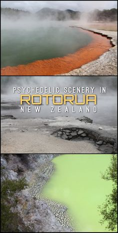 Rotorua is home to some of the most surreal scenery in New Zealand. We hired a car to see some of the best sights, with mixed results!