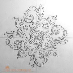 Baroque mandala by LucianoPezzoli on DeviantArt – Deanna M. Leather Tooling Patterns, Leather Pattern, Islamic Art Pattern, Pattern Art, Hand Embroidery Designs, Embroidery Patterns, Zentangle, Tatuagem Diy, Molduras Vintage