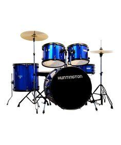 Another great find on #zulily! Blue Huntington Five-Piece Drum Set by BridgecraftUSA #zulilyfinds