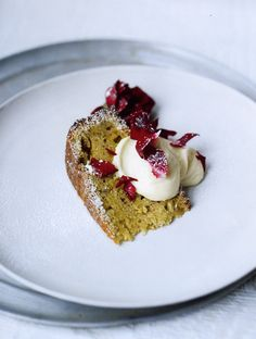 Pistachio Yogurt Cake with White Chocolate and Cardamom Frosting from Orient Express by Silvena Rowe