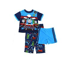 800c1eee58 Thomas Train Toddler Blue 3 pc Pajamas Set (2T) American Marketing  Enterprises INC http