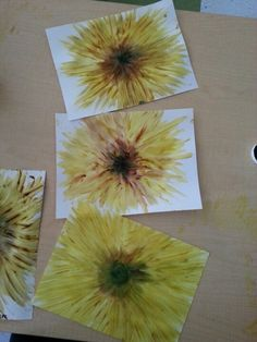 Sunflower fingerpainting for preschool!