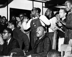 Selma to Montgomery - 50th Anniversary | FILE PHOTO 1965 Selma to Montgomery March. Dr. Martin Luther King Jr. at rally March 17, 1965.