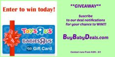 ENTER to WIN! http://www.fcebook.com/buybabydeals  #giveaway #babydeals #mommydeals #babiesrus