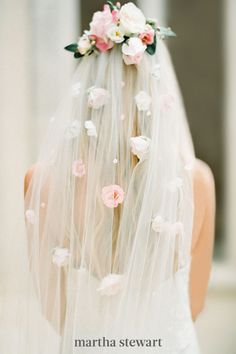 This floral-themed veil is proof that going for the ultimate degree of romance in your bridal ensemble often pays off. From its lush fabric garden rose headpiece to its spray rose-studded body, this Love Sparkle Pretty option is as dreamy as it gets. #weddingideas #wedding #marthstewartwedding #weddingplanning #weddingchecklist Bella Wedding Dress, Dream Wedding, Wedding Day, Wedding Scene, Elopement Wedding, Wedding Beach, Church Wedding, Wedding Bride, Wedding Anniversary