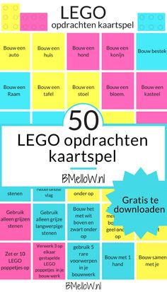LEGO opdrachten kaartspel