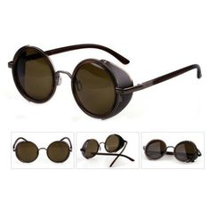 The best Steampunk sunglasses. Awesome style with exceptional quality, performance, and comfort. Complete your look with these amazing Steampunk sunglasses. Sun With Sunglasses, Round Metal Sunglasses, Mens Sunglasses, Fashion Moda, Look Fashion, Unique Fashion, Womens Fashion, Style Hippy, Circle Glasses