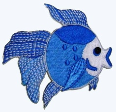ID 0249 Tropical Fish Fishing Iron On Applique by CoolPatches, $2.99