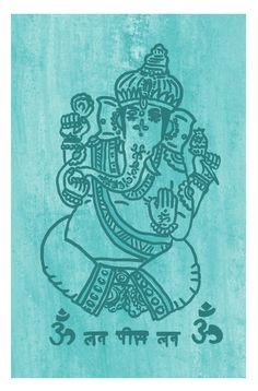 "Single layer mixed media screen print titled ""Lord Ganesha"". The hand-drawn stencil was printed using white ink on textured paper blue paper with extra detail added using black posca paint pen. Further colour editing was carried out using Photoshop. Other colour versions available on Flickr.  #ganesha #screenprinting #illustration #drawing #mixedmedia"
