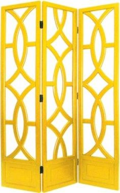 Yellow three panel screen.