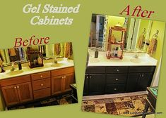 about to restain my kitchen/bathroom cabinets... this looks like an easy way to do it. Wish me luck!