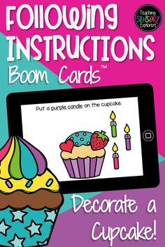 Preschool Speech Therapy, Speech Therapy Activities, Speech Language Therapy, Speech And Language, Learning Games, Learning Resources, Rainbow Frosting, Following Directions, Google Classroom