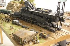 1/35 Dora railway gun diorama fully finished.