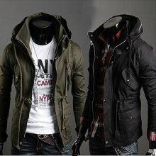 Details about 2016 NEW Parka Mens Military Trench Coat Ski Jacket