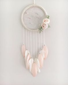 Excited to share this item from my #etsy shop: Tranquil Floral Dream Catcher #housewares #homedecor #dreamcatcher #floraldreamcatcher #shabbychic #rustic #boho #bohonursery