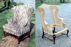 Картинки по запросу wingback chair plans