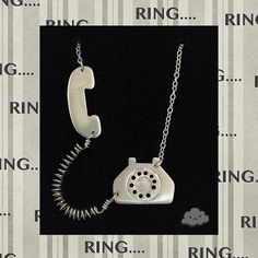 Sterling Silver Ringaling the Telephone Necklace by lilblackcloud, $55.00