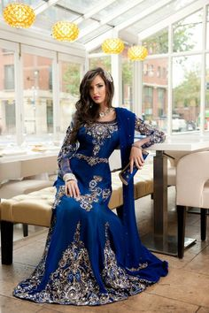 Indian Lengha in Blue...gorgeous!!!