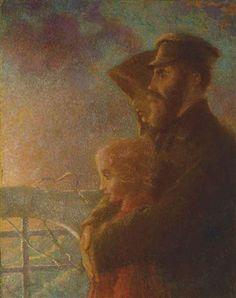 The Russian Emigrés by Lucien Lévy-Dhurmer