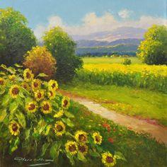 A Path Well Chosen  Origina Oil on Canvasl   16 x 16