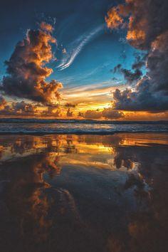 The beauty of nature — lsleofskye: Life's a beach Beautiful Photos Of Nature, Beautiful Nature Wallpaper, Beautiful Sky, Fire Photography, Landscape Photography, Natural Wonders, Wonders Of The World, Scenery, Clouds