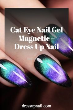 A small set with a magnet to make an awesome cat eye design.    #nails #cateyenails #dressupnail Galaxy Cat, Galaxy Nails, Glitter Manicure, Gel Manicure, Short Nails, Long Nails, Cat Eye Nails, Gel Polish Colors, Clean Nails