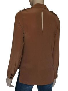 Panel Blouse in Brown (Back)