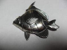 Sterling fish brooch vintage sterling silver by GingersLittleGems