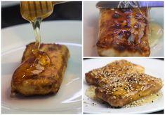 ΦΕΤΑ ΣΑΓΑΝΑΚΙ ΜΕ ΦΥΛΛΟ κ ΜΕΛΙ Feta, French Toast, Appetizers, Cheese, Baking Ideas, Breakfast, Party, Recipes, Greek