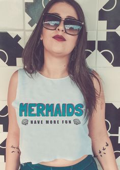 Cropped Mermaids have more fun - Doiska #sereismo #mermaids #sereia