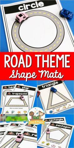 Road Shape Mats for Preschool - Pre-K Pages
