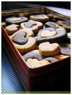 Peanut Butter and Chocolate Heart Cookies