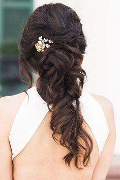 Half Up Half Down Wedding Hairstyles Ideas ❤ See more: http://www.weddingforward.com/half-up-half-down-wedding-hairstyles-ideas/ #weddingforward #bride #bridal #wedding