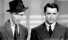 James Stewart and Cary Grant in The Philadelphia Story, 1940