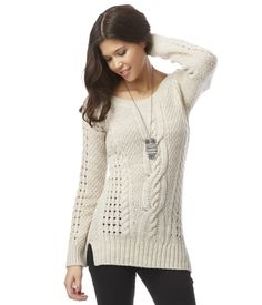 Solid Cable Sweater from Aeropostale