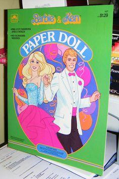 BARBIE & KEN Paper Dolls....I loved paper dolls when I was little