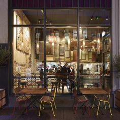 Nando's restaurant interior by BuckleyGrayYeoman in Glasgow, Scotland