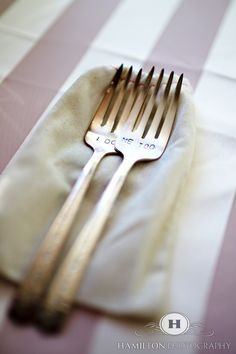 Cute forks  Photo by Hamilton Photography  www.hamiltonphotography.net