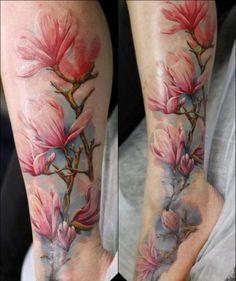 19 Pink Magnolia Tattoo