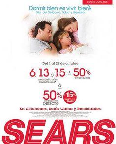 Sears descuento en colchones, sofá camas y reclinables