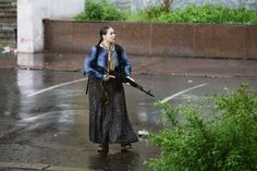 Valkarie of the Donetsk People's Republic (Russian side) fighting Ukraine