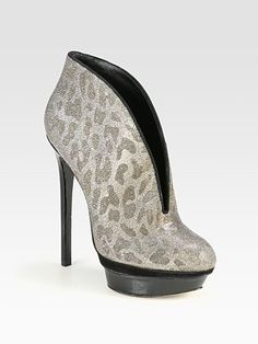 B Brian Atwood - Fortosa Glitter & Patent Leather Ankle Boots - Saks.com $475.00