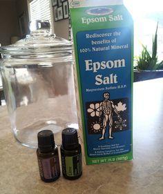 DIY Purex Crystals, only 2 ingredients! Epsom salt and fragrance!