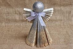 Recycled Little Christmas Angels