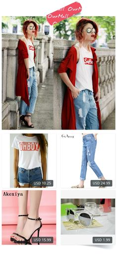 This is Lua P's buyer show in OurMall;  1. Women T-shirt Tops New Fashion Summer Style Tees T shirts Woman 2.Korean style light blue Summer hole jeans female loose straight beggar pants women 3.summer high heels with sandals sexy black gold dew toe simple 4. Mercury Mi... please click the picture for detail. http://ourmall.com/?7v6Bzq #coat #windbreaker #longcoat #springcoat #girlscoat #coatforwomen #femalecoat #trenchcoat #capecoat #rackcoat #womencoat