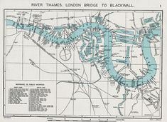 Jordan's map of the Thames London Map, Old London, London City, Map Sketch, History Articles, Isle Of Dogs, Teaching Geography, London History, Education Center